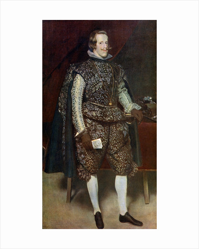 Philip IV of Spain in Brown and Silver by Diego Velasquez