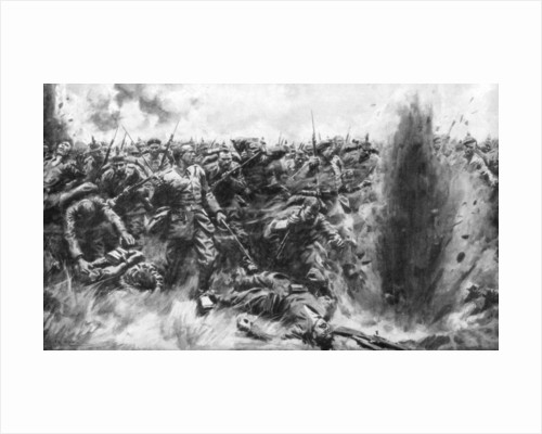 'A Massive German Attack on the British Front', World War I by Arthur C Michael