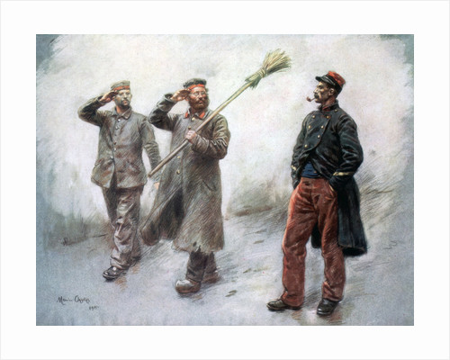 'Fatigue Duty at Headquaters', German prisoners in Dinan by Maurice Orange
