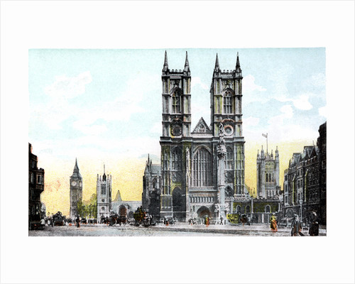 Westminster Abbey and Big Ben, London by Anonymous