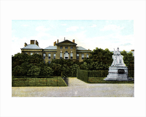 Kensington Palace and Queen Victoria's Statue, London by Anonymous