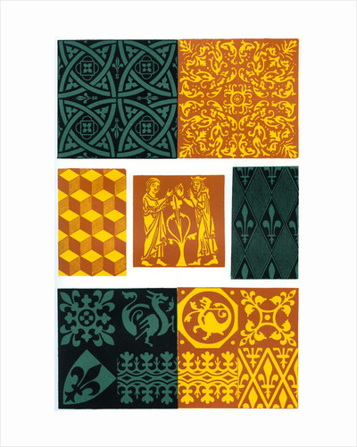 Paving tiles of the 14th and 15th century by Franz Kellerhoven