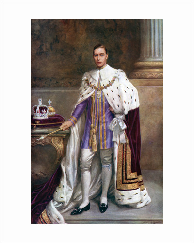 King George VI in coronation robes by Albert Henry Collings