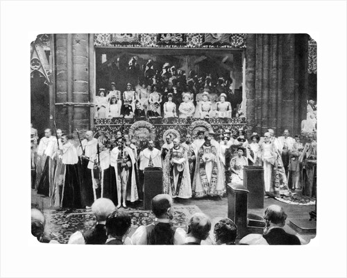 Coronation ceremony of George V, Westminster Abbey, London, 22 by John Benjamin Stone