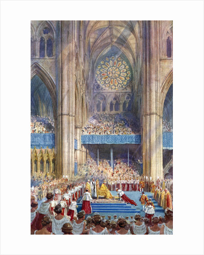 The Homage', George VI's coronation ceremony by Henry Charles Brewer