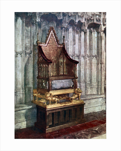 The Coronation Chair, with the Stone of Scone, Westminster Abbey, London by Anonymous