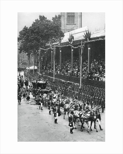 Coronation procession of George V and Queen Mary, near Westminster Abbey by Anonymous