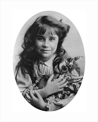The Queen Mother at seven years old by Anonymous