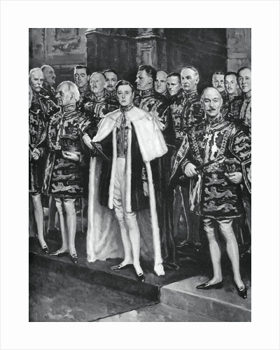 The Earl Marshal, heralds, and other officers of arms, coronation of George VI by W Smithson Broadhead