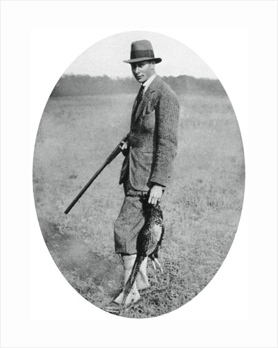 The Duke of York at a shooting party in 1922 by Anonymous