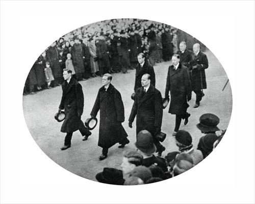 The Duke of York and his brothers in King George V's funeral procession by Anonymous