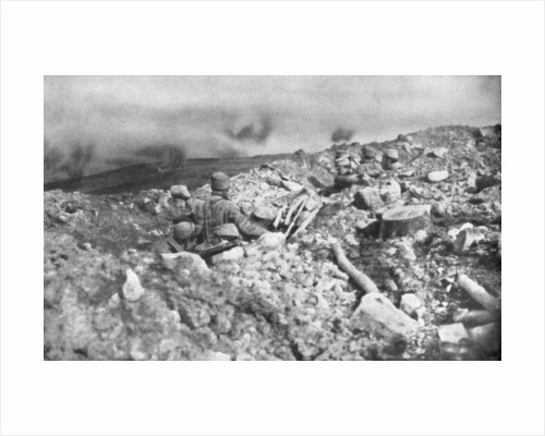 French artillery assault on the Eparges ridge, near Verdun, France by Anonymous