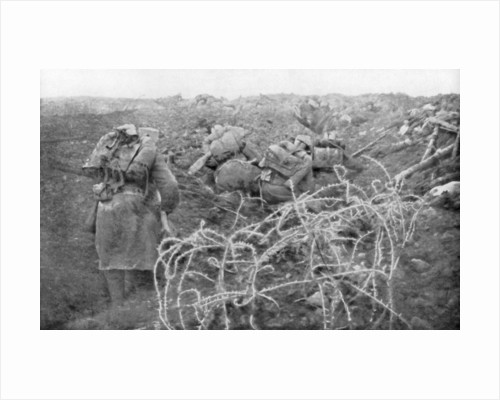 French infantry assault on the Eparges ridge, near Verdun, France by Anonymous