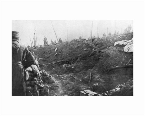 French troops prepare for a German counter-attack, Eparges ridge, near Verdun, France by Anonymous