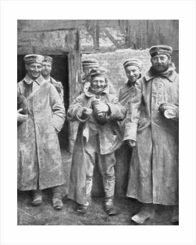 German prisoners of war with their ration of bread by Anonymous