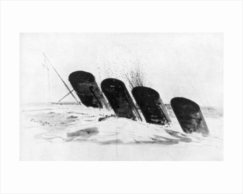 The sinking of RMS Lusitania by Oliver Bernard