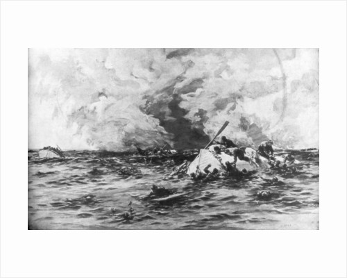 The lifeboats of RMS Lusitania by Samuel Begg