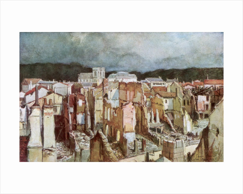 'The Ruins of Verdun', June 1916 by Francois Flameng