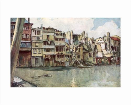 'The Meuse River, Verdun', France, June 1916 by Francois Flameng