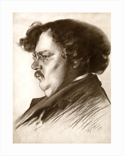 Gilbert Keith Chesterton, English writer by Alfred Priest