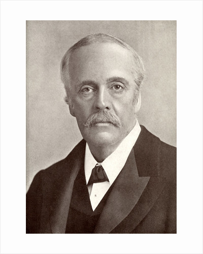 Arthur James Balfour, 1st Earl of Balfour, British statesman and Prime Minister by J Russell & Sons