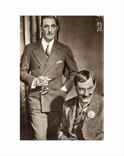 John Barrymore and Lionel Barrymore, American actors by Anonymous