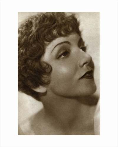 Claudette Colbert, French-American actress by Anonymous