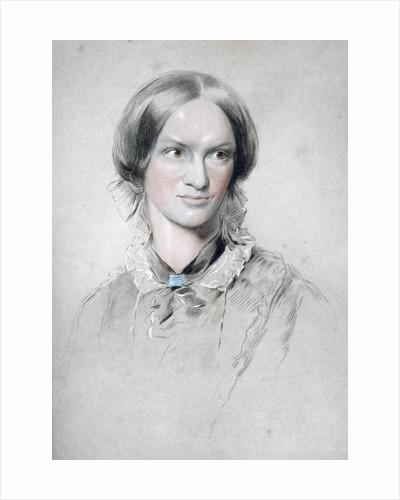 Charlotte Bronte, English novelist by George Richmond