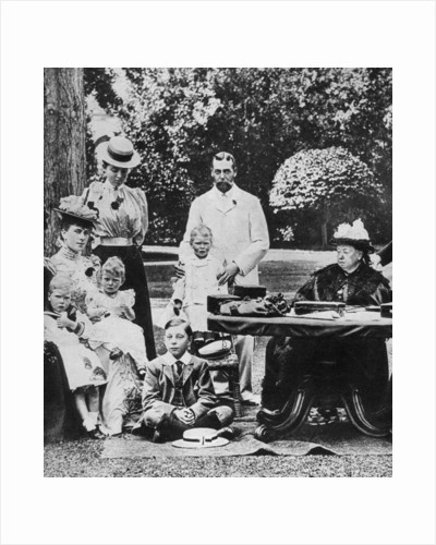 Queen Victoria and family at Osborne House by Anonymous