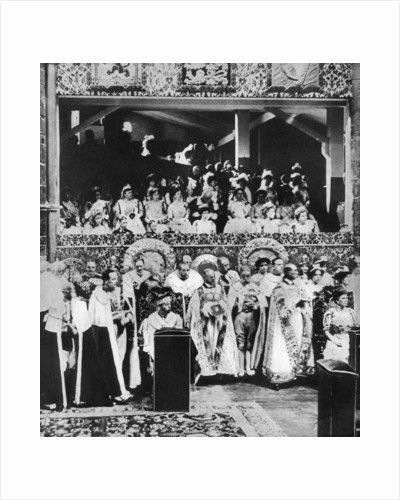The coronation of King George V, Westminster Abbey by Anonymous