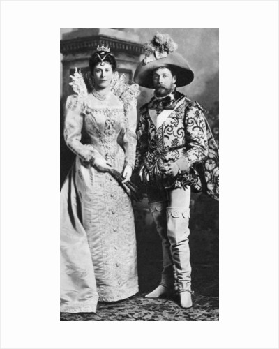 Prince George and Mary of Teck in fancy dress, Devonshire House Ball by Anonymous
