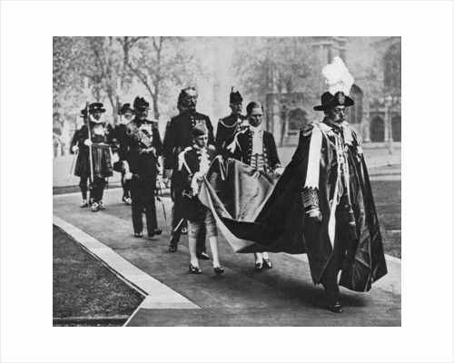 King George V in his robes as sovereign of the Order of Bath by Anonymous