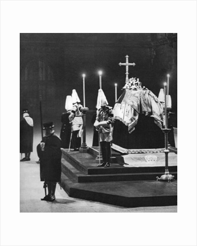 King George V lying in state in Westminster Hall, London, January 1936 by Anonymous