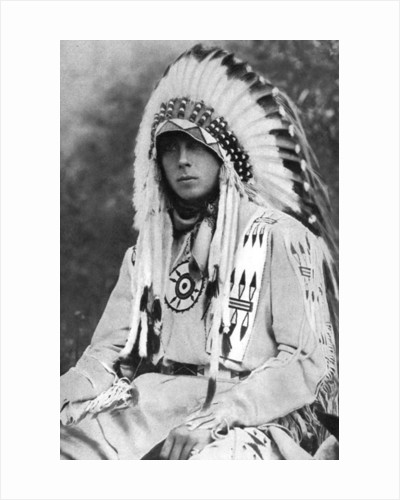 The Prince of Wales in Native American dress, Canada by Anonymous