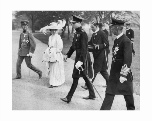 The Prince of Wales with the Empress and Crown Prince of Japan, Tokyo by Anonymous