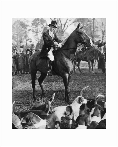 The Prince of Wales with the Beaufort Hunt by Anonymous