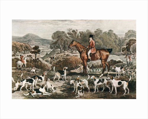 Ralph John Lambton and his Horse Undertaker and Hounds by Charles Turner