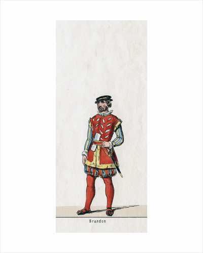 Brandon, costume design for Shakespeare's play, Henry VIII by Anonymous