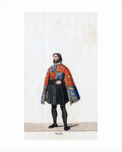 Herald, costume design for Shakespeare's play, Henry VIII by Anonymous