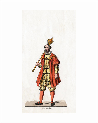 Holder of a sceptre, costume design for Shakespeare's play, Henry VIII by Anonymous