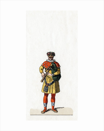 Musician, costume design for Shakespeare's play, Henry VIII by Anonymous