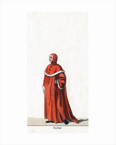 Judge, costume design for Shakespeare's play, Henry VIII by Anonymous