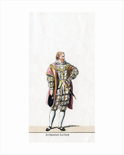 Sir Henry Guildford, costume design for Shakespeare's play, Henry VIII by Anonymous