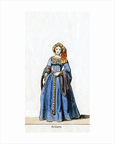 Lady-in-waiting, costume design for Shakespeare's play, Henry VIII by Anonymous