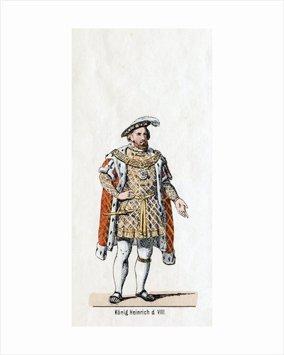 King Henry VIII of England, costume design for Shakespeare's play, Henry VIII by Anonymous