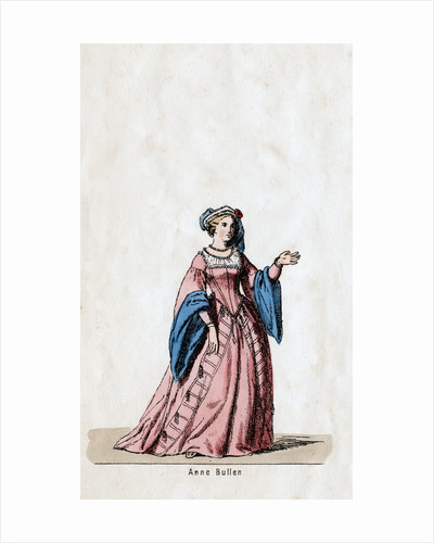 Anne Boleyn, costume design for Shakespeare's play, Henry VIII by Anonymous