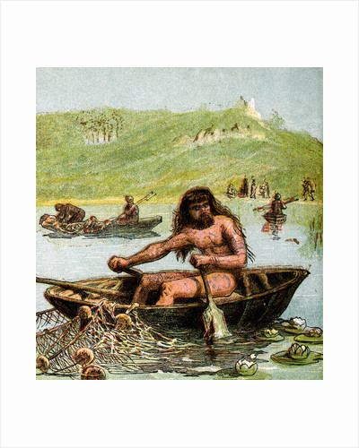 An Ancient Briton In His Boat by Anonymous