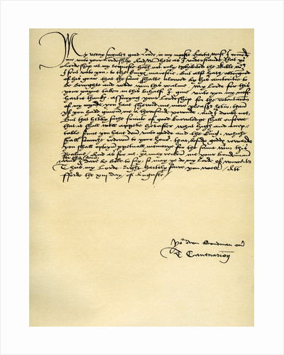 Letter from Thomas Cranmer to Thomas Cromwell, Ford by Thomas Cranmer