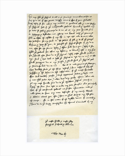 Letter from Sir Thomas More to Henry VIII, 5th March 1534 by Sir Thomas More