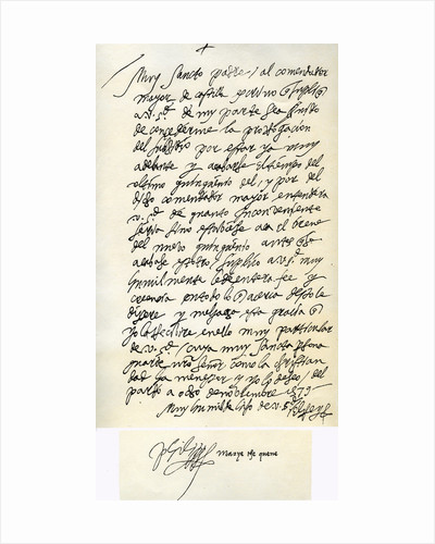 Letter from Philip II of Spain to Pope Gregory XIII, 8th November 1579 by King Philip II
